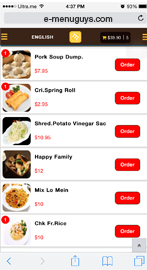 E-Menu Guys Mobile Order