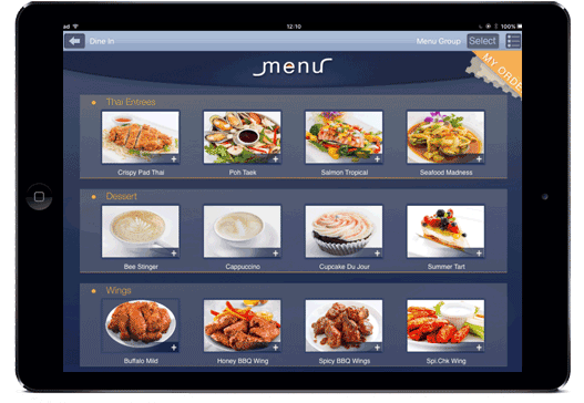 E-Menu Tablet
